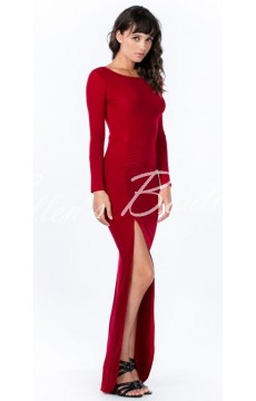 Vestido Fenda Vermelho