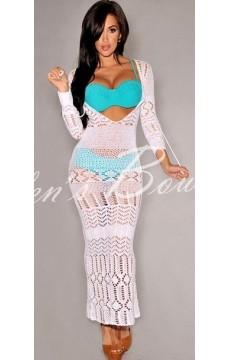 Vestido  Crochê Saida De Praia