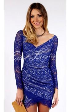 Vestido Festa Azul Stylish