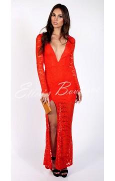 Vestido Festa Vermelho Stylish