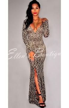 Vestido Longo Felino Elegant